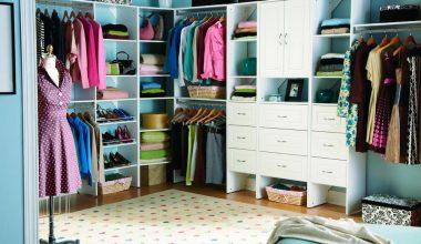 renkli giyinme odası dekorasyon