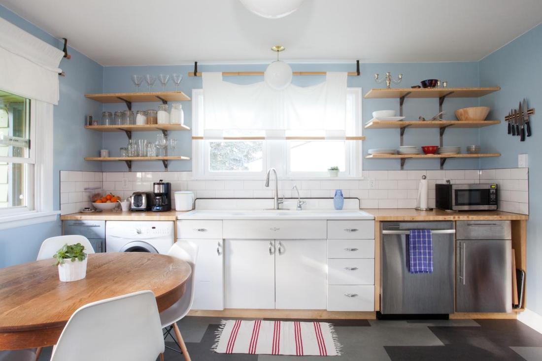 küçük açık mutfak dekorasyonu